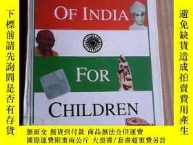二手書博民逛書店A罕見History of India for Children 英文原版精裝Y83259 Roshan Da
