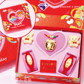 【元大珠寶】純金彌月音樂禮盒 平安幸福/小博士 三件組-彌月、滿月、週歲、生日送禮