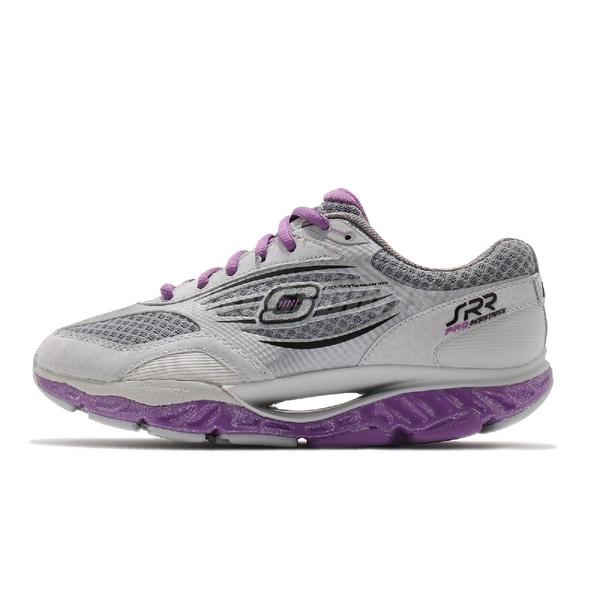 Skechers 慢跑鞋 SRR Pro-Resistance-Hi-Swift 灰 紫 女鞋 足弓推進器 健走鞋 運動鞋【ACS】 99999742GYPR
