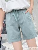 棉麻五分褲 棉麻褲女寬鬆亞麻短褲2020年夏季新款休閒直筒工裝褲高腰五分褲子 爾碩 雙11