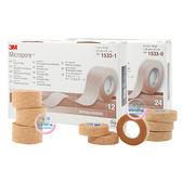 3M Nexcare 膚色膠帶 半吋(24入)/1吋(12入) 無台 整盒 一盒 通氣膠帶 透氣膠帶【生活ODOKE】