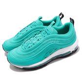 Nike 休閒慢跑鞋 Wmns Air Max 97 LX 湖水藍 藍 白 滿版小勾勾 女鞋 男鞋 運動鞋【PUMP306】 AR7621-300