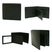 【COACH】專櫃款全皮革 8卡對折輕便短夾附活動證件夾(黑)