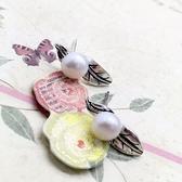 925純銀耳環-珍珠簡約百搭清新樹葉生日情人節禮物女飾品73ld53【時尚巴黎】