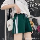 休閒短褲 運動短褲女夏季薄款外穿純棉闊腿寬鬆休閒熱褲學生跑步高腰睡褲女 618購物節