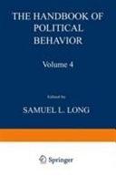 二手書博民逛書店 《The Handbook of Political Behavior: Volume 4》 R2Y ISBN:0306406047│Springer