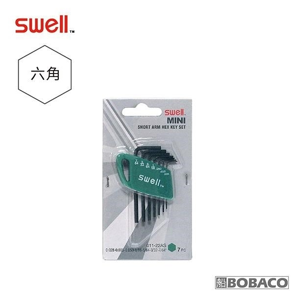 【南紡購物中心】SWELL【迷你黑六角扳手7支組】(英制0.028-7/64 )