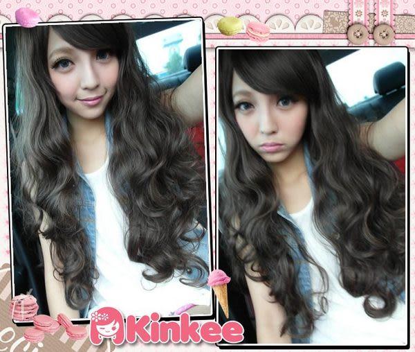 *╮Kinkee假髮╭*MIKIYO 示範 日本A牌 GAL系蓬鬆砰砰性感小惡魔耐熱長捲髮【A0004】