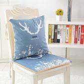 卡通夏天冰絲連體坐墊靠墊背一體可拆洗椅墊