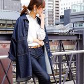 東京著衣-SILKY-高含棉長版牛仔外套-M(6190022)
