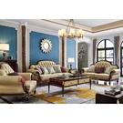 [紅蘋果傢俱]美式歐式 8808#沙發1+2+3(8802#茶几/方几) 套組 沙發 皮沙發 沙發組 客廳