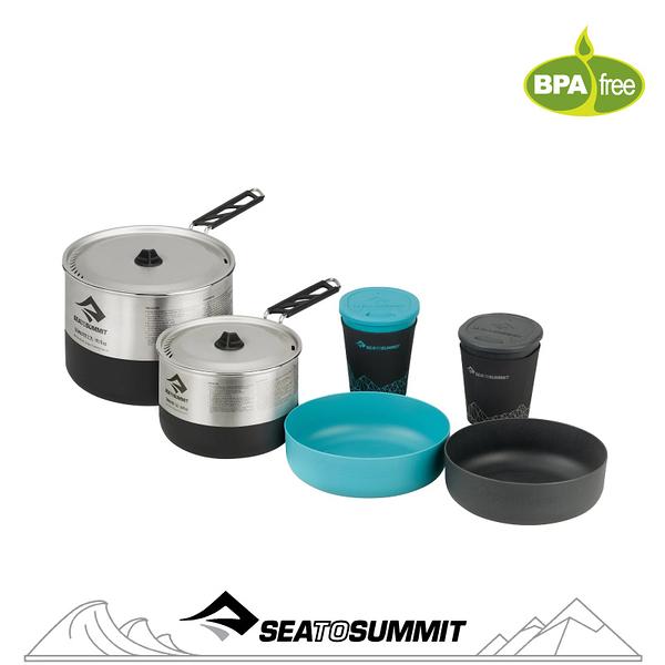 【Sea to Summit 澳洲 Sigma 折疊鍋具組《2.2/2人餐具》】STSAPOTSIGSET2.2/戶外餐具/鍋具