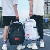 港風雙肩包女ins超火韓版原宿ulzzang 高中學生書包男潮旅行背包