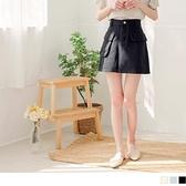 高含棉不對稱口袋修身A字短裙 OrangeBear《CA2297》