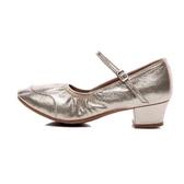 舞鞋 廣場舞鞋女中跟舞蹈鞋女成人夏季新款軟底中老年交誼舞跳舞鞋四季