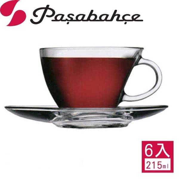 土耳其【Pasabahce】精緻玻璃帆船咖啡杯盤-六套組