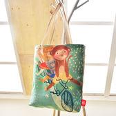義大利Fancy Belle X DreamfulCat《猴猴出發吧》麻織購物袋