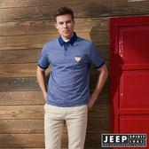 【JEEP】美式休閒素面短袖POLO衫 (藍)