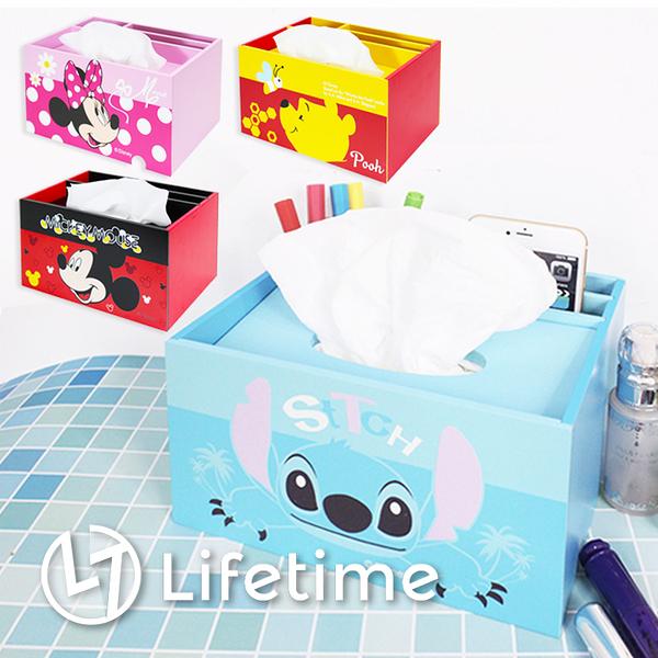 ﹝迪士尼多用面紙盒﹞正版衛生紙盒 面紙套 收納盒 米奇 史迪奇 維尼〖LifeTime一生流行館〗B01365