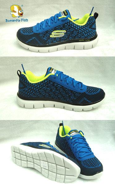 [SKECHERS] (童) Flex Advantage 2.0  97453LRYBK 藍 輕量針織鞋;蝴蝶魚戶外