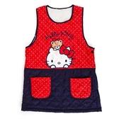 尼德斯Nydus 日本正版 三麗鷗 凱蒂貓 Hello Kitty 廚房 溫暖厚質 圍裙 附口袋 長度約78cm
