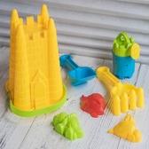 小城堡 沙灘桶 (7件組) 沙灘工具 迷你挖砂組 砂灘筒 海灘工具 挖沙工具 挖砂玩具【塔克】
