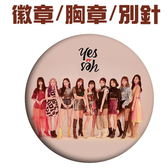 TWICE 胸章 yes or yes 別針 圓徽章E868-2【玩之內】韓國 周子瑜 定延 MINA SANA