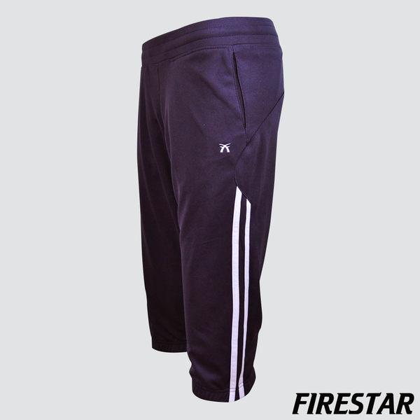 FIRESTAR-女性吸濕排汗針織七分褲-深紫 CL328-75
