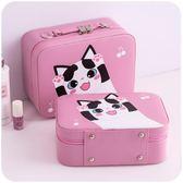 化妝包小號便攜韓國簡約可愛少女心大容量多功能品包收納盒箱手提「輕時光」