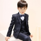 兒童西裝男童禮服套裝花童小西裝男鋼琴演出服帥氣英倫西服三件套 快速出貨