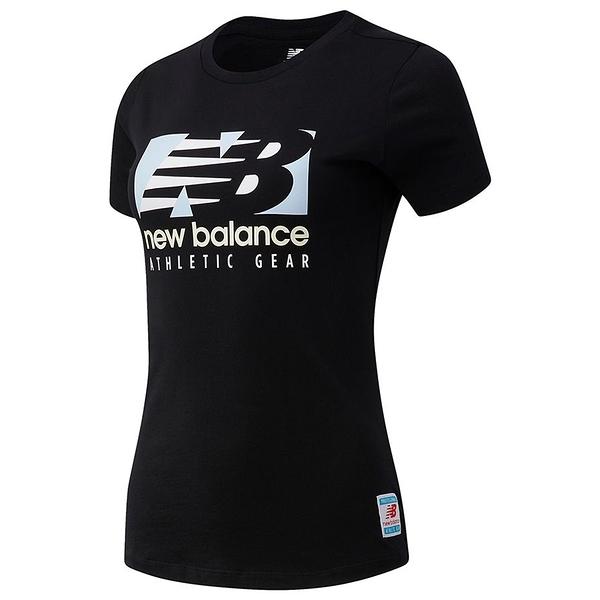 New Balance Essentials Field Day 女裝 短袖 休閒 基本款 棉質 LOGO 黑【運動世界】AWT11507BK