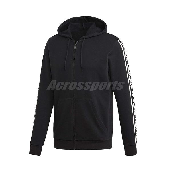 adidas 外套 C90s Branded Hoodie 黑 白 男款 連帽外套 運動休閒 【PUMP306】 EI5615