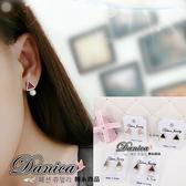 耳環 韓國氣質甜美百搭簡約三角形珍珠耳環S92033  價Danica 韓系飾品韓國連線