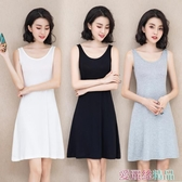 襯裙夏季莫代爾洋裝女中長款無袖打底內襯裙寬鬆大碼外穿背心裙 夏季新品