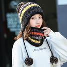 帽子女秋冬季韓版潮百搭甜美可愛針織毛線帽冬天保暖護耳2018新款 ys7601『時尚玩家』