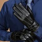 防水觸控男士三道筋保暖皮手套 PU皮 防寒手套 騎車手套 防風手套【YX301】《約翰家庭百貨
