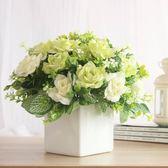家居飾品裝飾花假花仿真花卉田園小盆花假花盆栽客廳茶幾臺面擺設 艾尚旗艦店