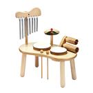 玩偶的家PlayMe 夢幻鼓手-迷你木製爵士鼓綜合打擊樂器 比漾廣場