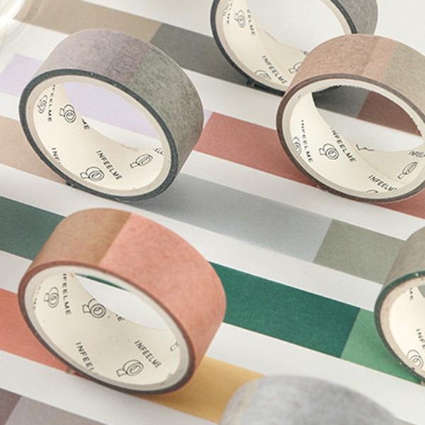 【BlueCat】映畫簡約色彩風和紙膠帶 手帳裝飾