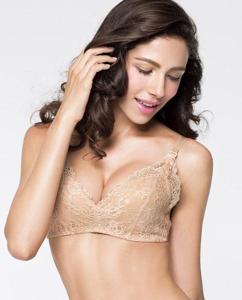 蕾丝边性感薄模杯调整型胸罩-ami03113