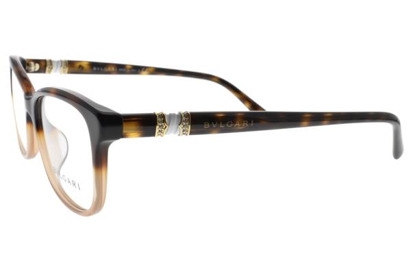 BVLGARI 光學眼鏡 BG4133BF 5362 (漸層琥珀) 奢華設計款 平光鏡框 # 金橘眼鏡