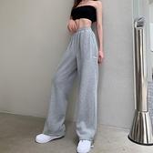 高腰束腳褲港風灰色運動褲女2020年秋冬新款寬鬆直筒褲休閒衛衣褲 蘿莉新品