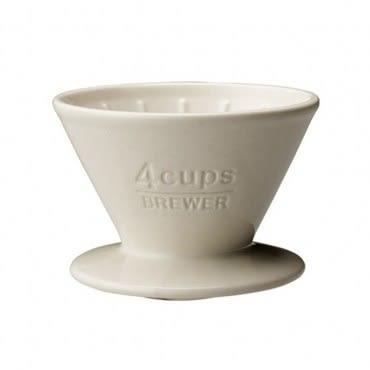 SCS陶瓷濾杯4杯 白