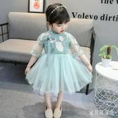 超洋氣女童連身裙夏季民族風寶寶旗袍公主襦裙雪紡漢服紗洋裝小童 yu12975『寶貝兒童裝』