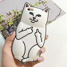 【SZ】創意搞怪口袋中指賤貓 iphone 6 plus手機殼 iphone 6s 6s手機殼 iphone se手機殼 軟殼