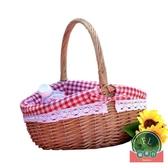 戶外手提野餐籃子購物禮品籃菜籃水果籃【福喜行】
