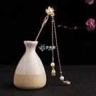古風漢服簪子盤發珍珠發簪日常百搭簡約神棍簪中國風頭飾發飾品女