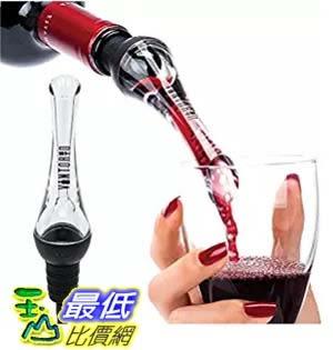 [美國直購]  Vintorio Wine Aerator Pourer - Premium Aerating Pourer and Decanter Spout (Black)