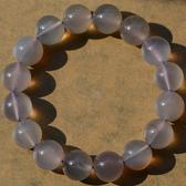 灰紫玉髓瑪瑙手鏈 俏色 女生飾品 12mm