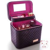 化妝包大容量正韓化妝包多功能小號方袋便攜手提多層化妝品收納盒簡約箱 聖誕禮物
